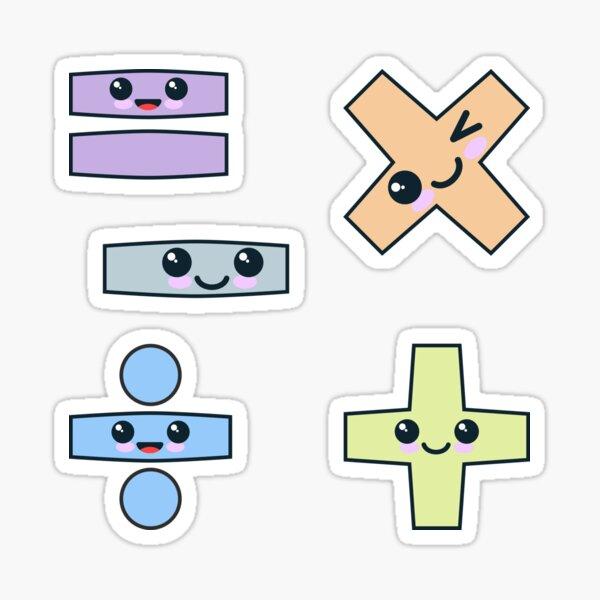 Kawaii Math Pack Sticker