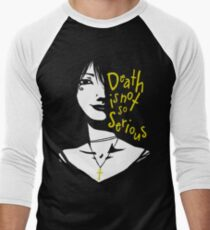 Death Is Not So Serious Men's Baseball ¾ T-Shirt
