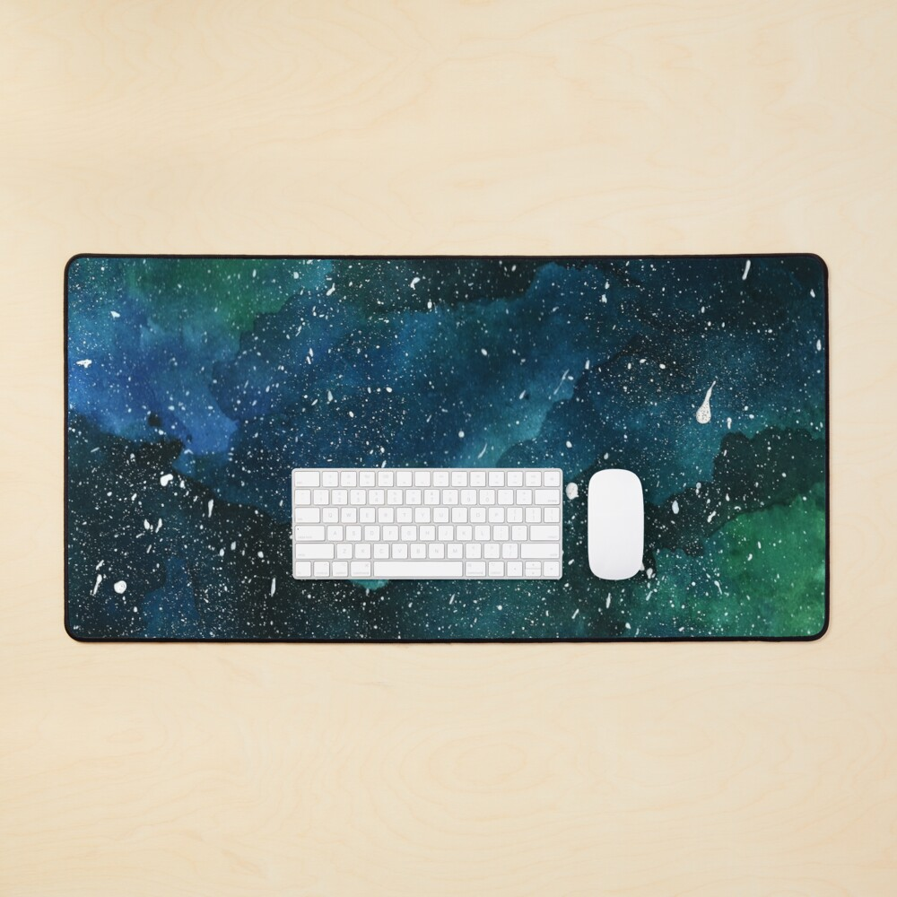 Emerald Galaxy Mouse Pad