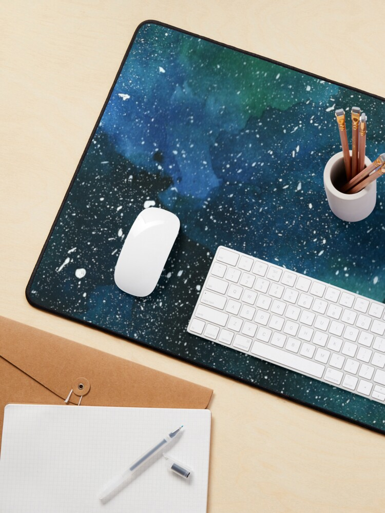 Alternate view of Emerald Galaxy Mouse Pad