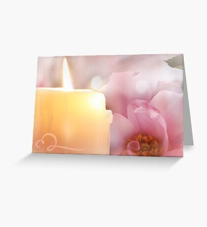 Flower, Candle, Flame Greeting Card