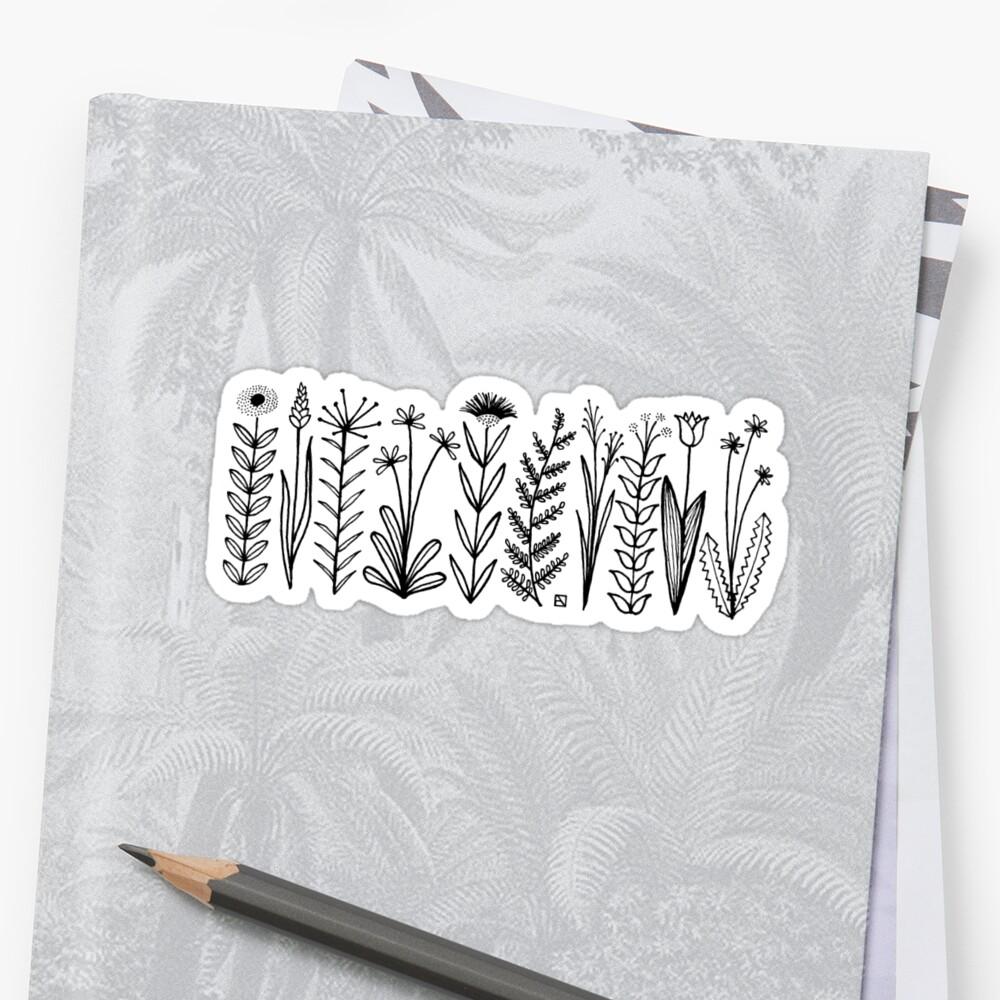 Blumenmuster scharz/weiß / flower pattern by Emily Claire Völker