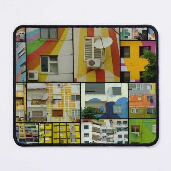 Tirana Collage - colorful buildings in Tirana, Albania Mouse Pad