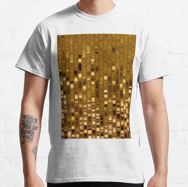Gold Sequins | Gold Metallic Texture | 70s Disco Inspired  Classic T-Shirt