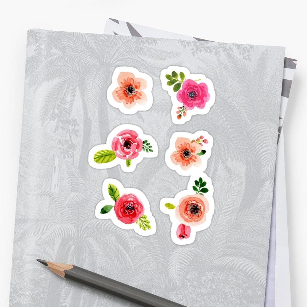 PegatinaPequeñas flores Delante