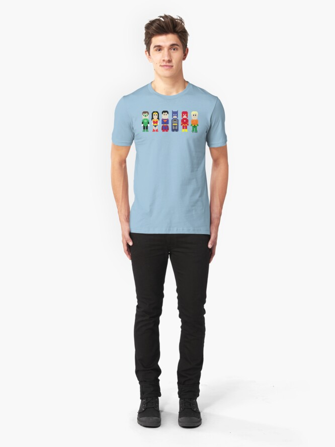 Alternate view of 8-Bit Super Heroes 3: The Other Guys Slim Fit T-Shirt
