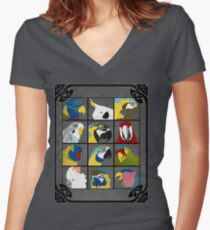Parrots Women's Fitted V-Neck T-Shirt