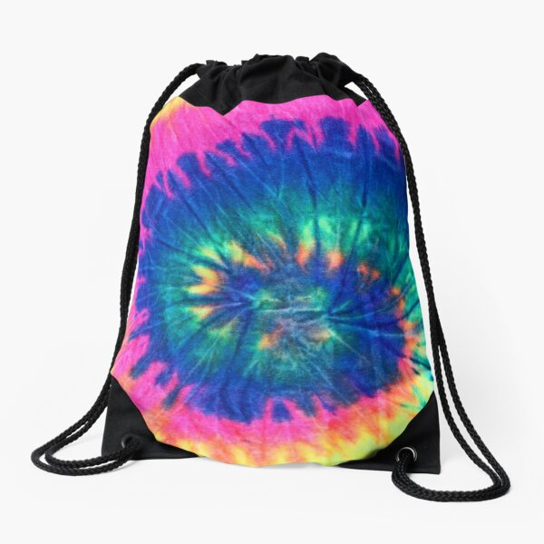 Nice Tie Dye backpack, AESTHETIC blue and pink. Backpacks for school / high school / give away. Drawstring Bag