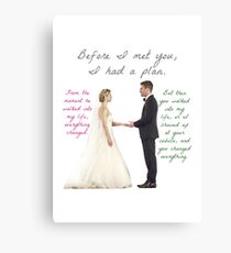 Olicity Wedding - Everything Changed Canvas Print