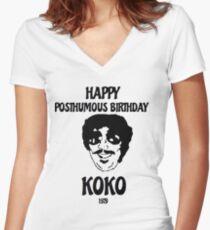 Koko Goldsein Tribute Women's Fitted V-Neck T-Shirt