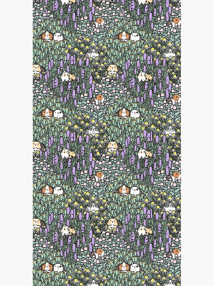 Guinea pigs and garden herbs pattern by Miri-Noristudio
