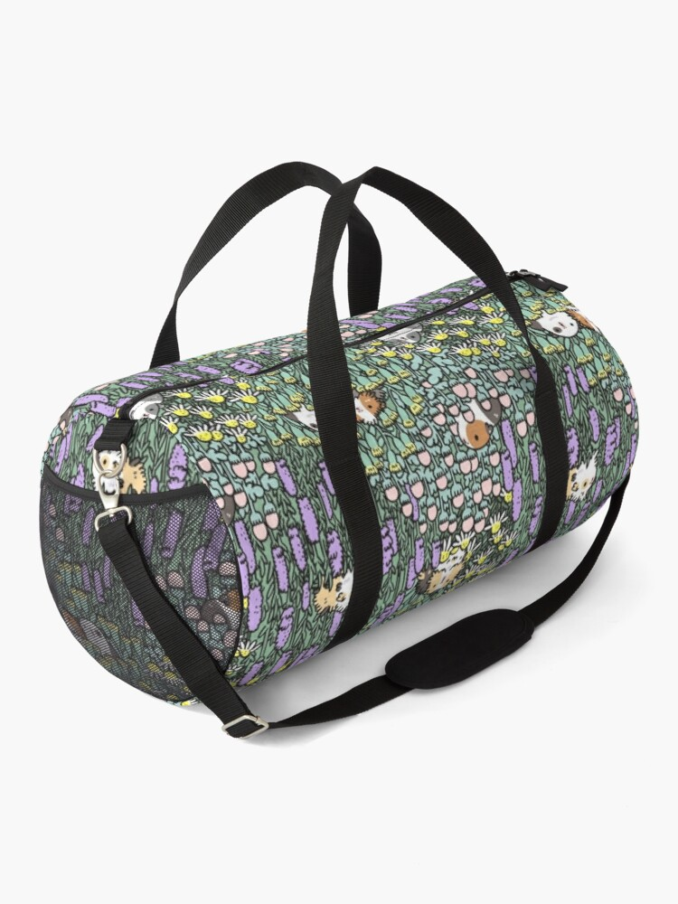 Alternate view of Guinea pigs and garden herbs pattern Duffle Bag