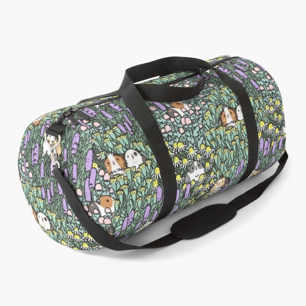 Guinea pigs and garden herbs pattern Duffle Bag
