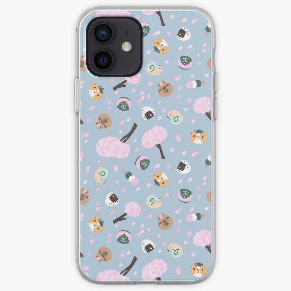 Bubu and Moonch Sakura Season Pattern  iPhone Soft Case