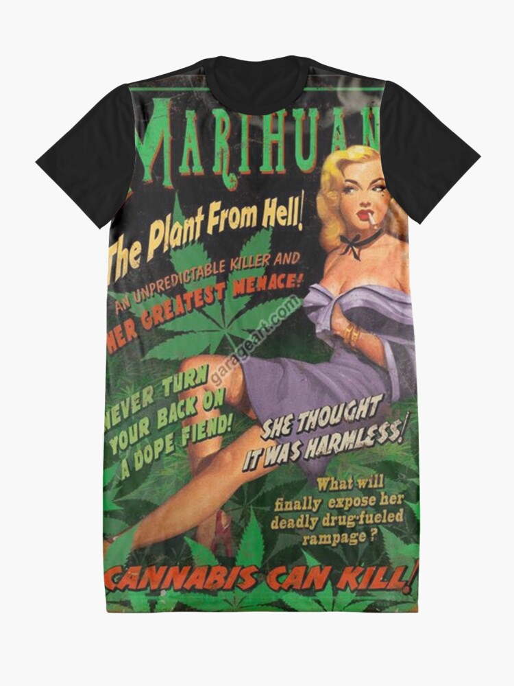 Alternate view of Plant From Hell! Graphic T-Shirt Dress
