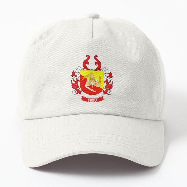 Sicily Flag Coat Of Arms - Cool Italian Sicily Region Dad Hat