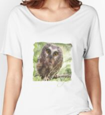 Wild Life Series - The Cute Brown Owl Women's Relaxed Fit T-Shirt
