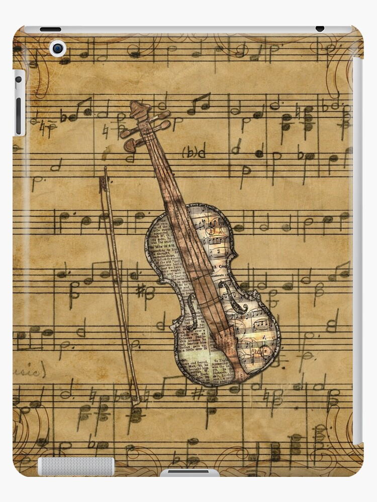 'Vintage Sheet Music Violin' iPad Case/Skin by moondreamsmusic