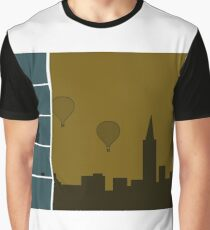 Urban City And Balloons Graphic T-Shirt