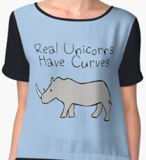 Real Unicorns Have Curves Chiffon Top