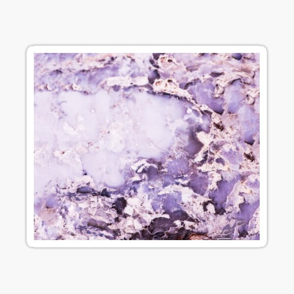 Purple Marble Stone Abstract Sticker