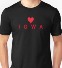 Iowa with Heart Love Unisex T-Shirt