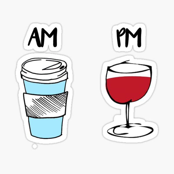 AM/PM Sticker