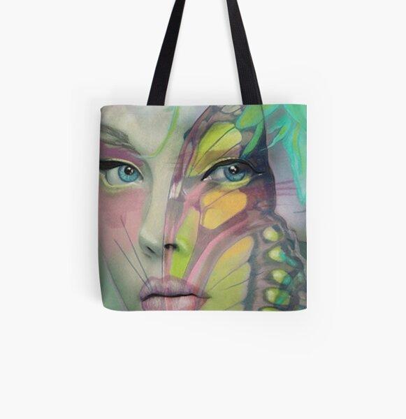 Reve' Papillion All Over Print Tote Bag