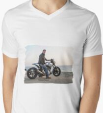 Sky is the Limit (Keanu Reeves Biker) V-Neck T-Shirt
