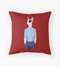 Skinhead Bull Terrier shirt Throw Pillow