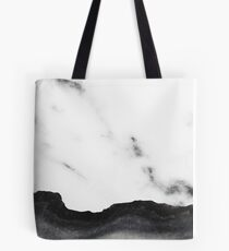 White marble Black Marble Tote Bag