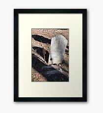 Off Base Framed Print