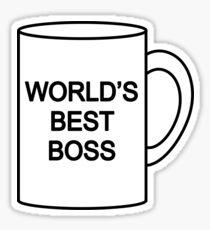 World's Best Boss the office Sticker