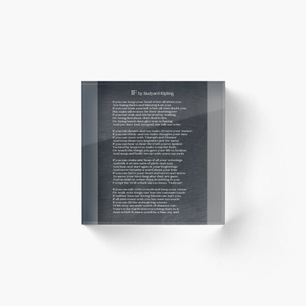 If By Rudyard Kipling II Acrylic Block
