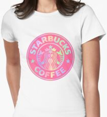 Starbucks logo revamped  Women's Fitted T-Shirt