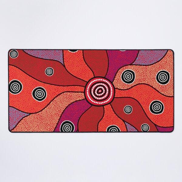 Authentic Aboriginal Art - Central Lands Desk Mat