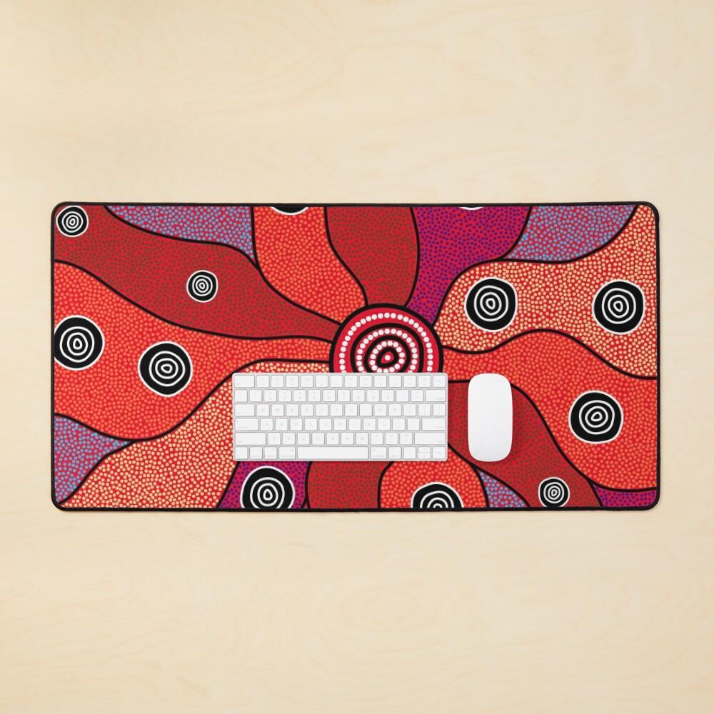 Authentic Aboriginal Art - Central Lands Mouse Pad