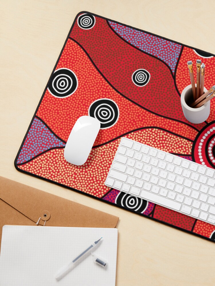 Alternate view of Authentic Aboriginal Art - Central Lands Mouse Pad