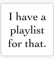 playlist Sticker