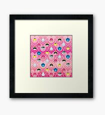 Tsum Tsum Alice in Wonderland - Pink Framed Print