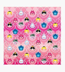 Tsum Tsum Alice in Wonderland - Pink Photographic Print