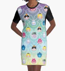 Tsum Tsum Alice in Wonderland - purple/green/blue/yellow Graphic T-Shirt Dress