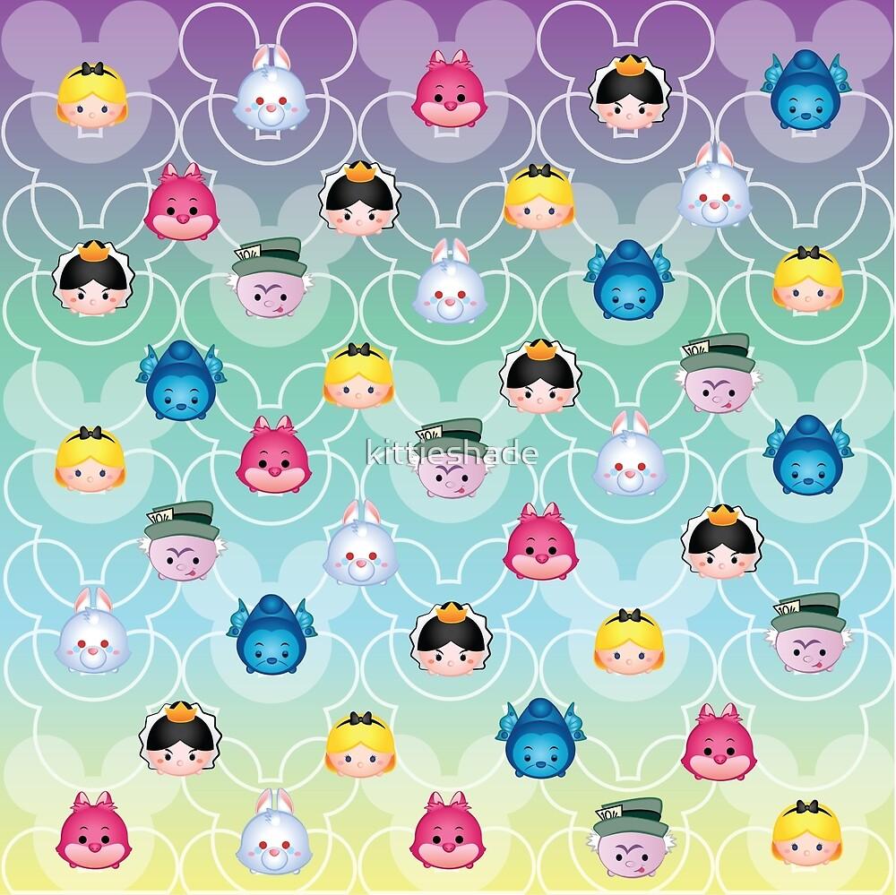 Tsum Tsum Alice in Wonderland - purple/green/blue/yellow by kittieshade