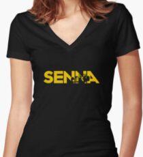 Ayrton Senna Women's Fitted V-Neck T-Shirt