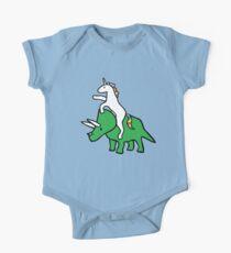 Einhorn Reiten Triceratops Baby Body Kurzarm