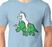 Unicorn Riding Triceratops Unisex T-Shirt