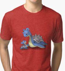 Lapras Pokemon Mother & Child Tri-blend T-Shirt