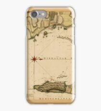 Map Of Gibraltar 1783 iPhone Case/Skin