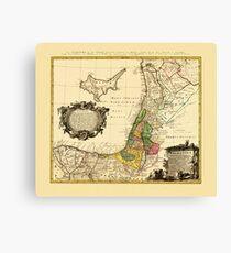 Map Of Palestine 1790 Canvas Print