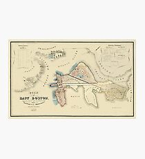 Map Of Boston 1837 Photographic Print